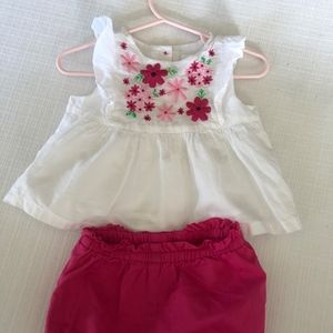 Gymboree 2 piece embroidered outfit